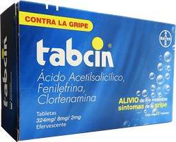 Tabcin Efervescente 12 Tabletas (324 mg/8 mg/2 mg)