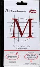 Condones M M Force & Multi O Preservativo