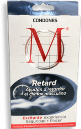 Condones M-Force Retard 3 U