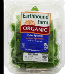 Ensalada Earthbound Farm Espinaca Baby 142 g