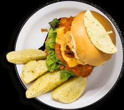 Combo Hamburguesa Búffalo Chicken
