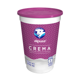 Crema Alpura Deslactosada Premium 200 mL