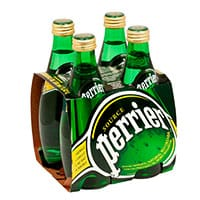 Agua Mineral Perrier Botella 330 mL x 4