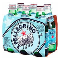 Agua Mineral San Pellegrino Natural Botella 250 mL x 6