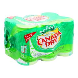 Agua Quina Canada Dry Lata 237 mL x 6