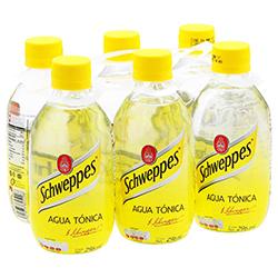 Agua Tónica Schweppes Botella 296 mL x 6