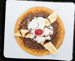 Waffle Nutella Plátano