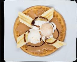 Waffle Arequipe y Plátano
