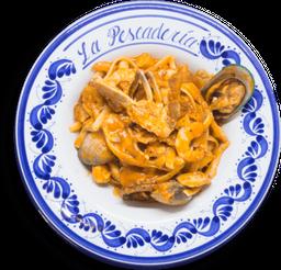 Fetuccini o Spaguetti de Mariscos