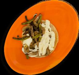Taco Vegetariano  de Nopal