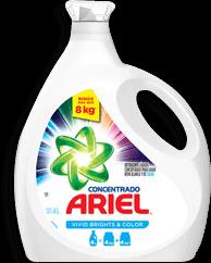 Detergente Ariel Concentrado Blanco y Color Líquido 4 L