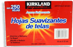 Hojas Suavizantes de Telas Kirkland Refrescantes 250 U