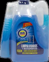 Limpiador Para Vidrios Real Clean 5 L + 750 mL