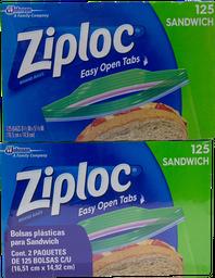 Bolsas Para Sandwich Ziploc 125 U x 2