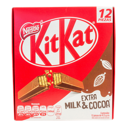 Bocadillo Kit Kat Oblea Cubierta Con Chocolate 12 U
