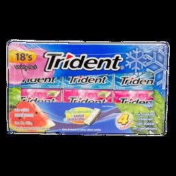 Chicles Trident 18's Sabores Surtidos 30.6 x 12 U