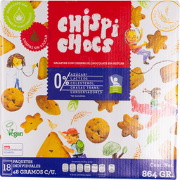 Galletas Sin Azúcar Chispi Chocs 48 g x 18 U