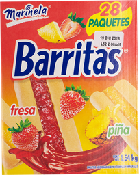 Galleta Barritas Fresa/Piña 55 g x 28