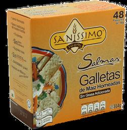 Salmas Galletas De Maiz Horneadas 18 g Sanissimo 48 U