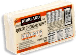 Queso Cheddar Suave 907 g Kirkland Signature