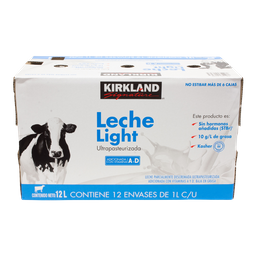 Leche Light Kirkland Signature 1 L  12