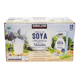 Bebida de Soya Vainilla Organica 946 mL Kirkland Signature 12 U