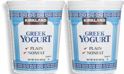 Yoghurt griego Natural Sin grasa 907 g Kirkland Signature 2 U