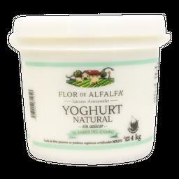 Yoghurt Organico Natural 4 Kg Flor De Alfalfa