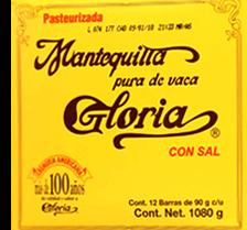 Mantequilla Con Sal 90 g Gloria 12 U