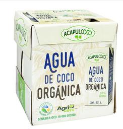 Agua De Coco Organica 1 L Acapulcoco 6 U