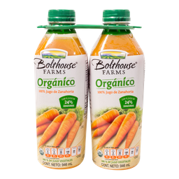 Jugo Farms de Zanahoria Orgánico   946 mL x 2