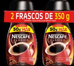Café Soluble Regular 350 g NesCafé Clasico 2 U
