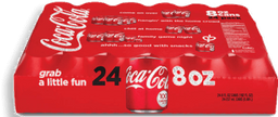 Refresco En Mini Lata Coca Cola de 235 mL  24 U