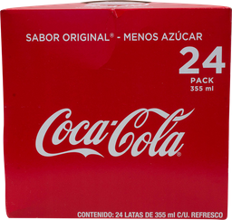 Refresco En Lata de 355 mL Coca Cola 24 U