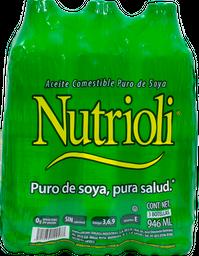 Aceite de Soya Nutrioli 946 mL x 3