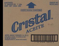 Aceite Vegetal de 1 L Cristal 12 U