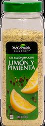 Sal Con Limón y Pimienta Mccormick Gourmet 737 g