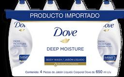 Jabon Liquido Corporal Dove 4 U