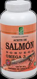 Suplemento Alimenticio All Nature Aceite de Salmón 300 Cápsulas