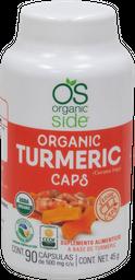 Turmeric  Organic Side Orgánico 90 Cápsulas