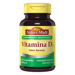 Vitamina Nature Made D-3 Masticable 250 Comprimidos