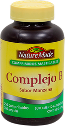 Complejo B Nature Made 250 Comprimidos Masticables