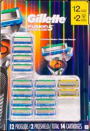 Cartuchos Fusion Proglide Gillette 14 U
