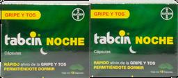 Tabcin Noche 12 Cápsulas X 2 (250 mg/5 mg/10 mg/6.5 mg)