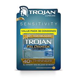 Condones Trojan Piel Desnuda 36 U