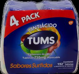 Antiácido Tums Carbonato de Calcio u