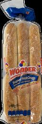 Pan Hot Dog Super Hot Dogs Wonder Con Ajonjolí 12 U