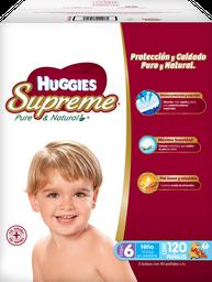 Pañales Huggies Supreme Etapa 6 Niño 120 U