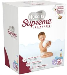Pañales Huggies Supreme Platino Etapa 6 Niño 120 U