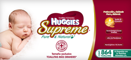 Toallas Húmedas Huggies Supreme Pure & Natural 72 U x 12